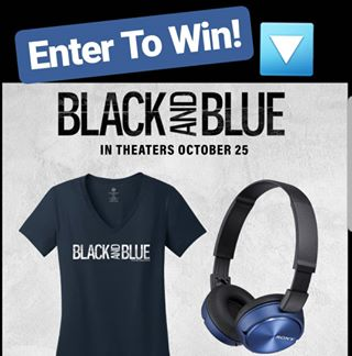 ENTER TO WIN this #BlackAndBlueMovie t-shirt and headphones combo by telling us your favorite #Cinergy location in the comments! See the movie at select locations this weekend. Tixs in bio link.